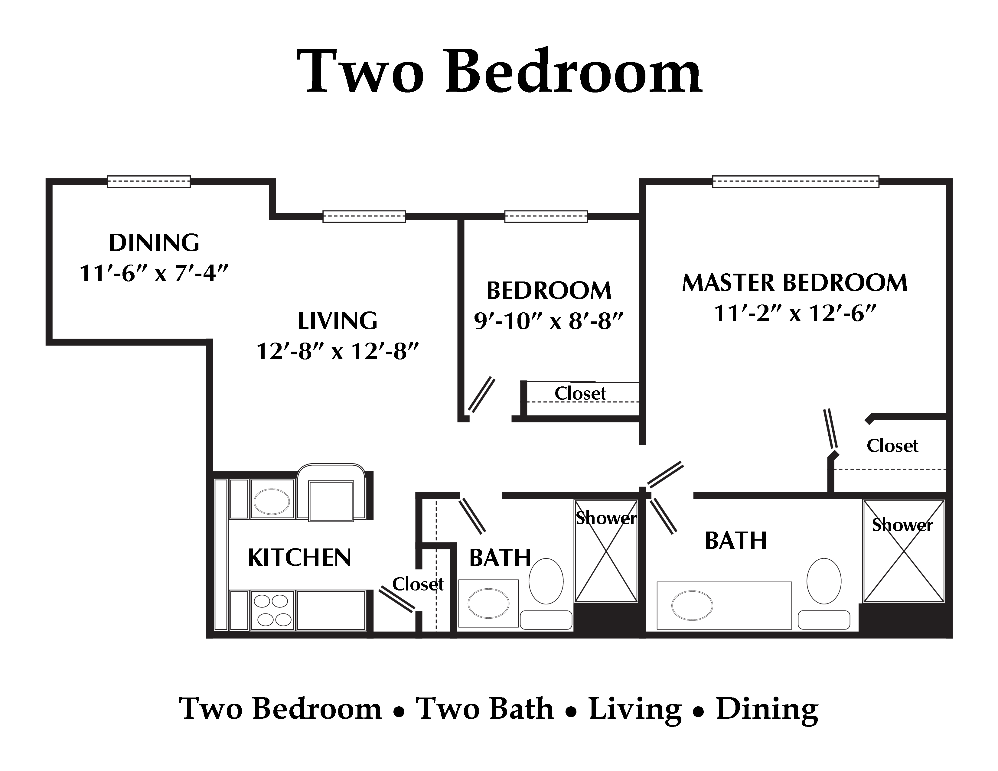 2 bedroom 2 bath apartment floor plans house plans for 2 bedroom 2 bath apartment floor plans